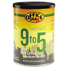 9 to 5 Coffee, 100% Pure Arabica, Half-Caff, 23 oz Can