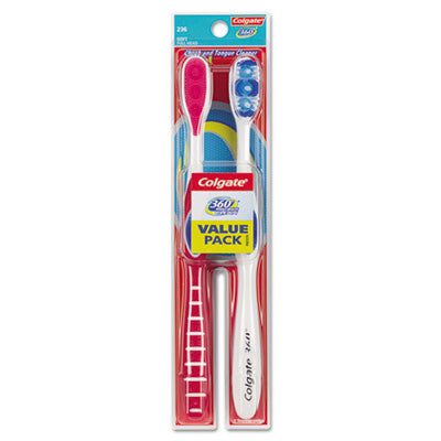 360 Full Head Soft Toothbrush Twin Pack