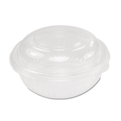PresentaBowls Bowl/Lid Combo-Paks, 16oz, Clear, Dome Lid, 63/Pack