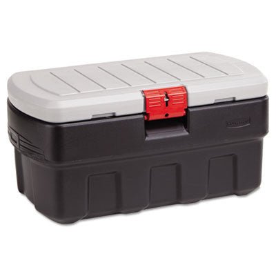 ActionPacker Storage Container/Cargo Box, 35gal, 16 3/8 x 18 1/2, Black