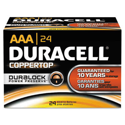 Coppertop Alkaline Batteries, AAA, 24/Box