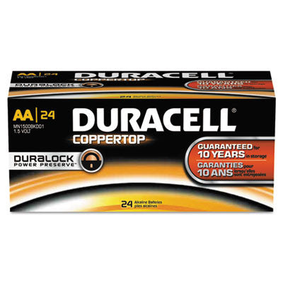 CopperTop Alkaline Batteries with Duralock Power Preserve Technology, AA