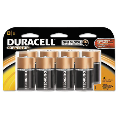Coppertop Alkaline Batteries, D