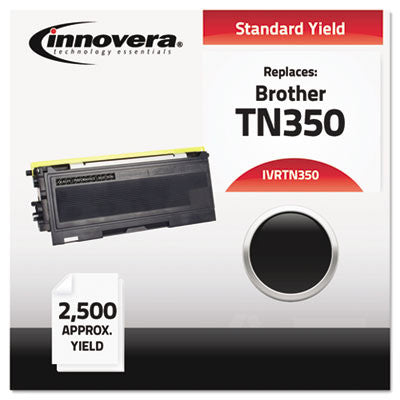 TN350 Compatible, Remanufactured, TN350 Laser Toner, 2500 Page-Yield, Black