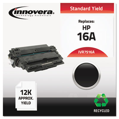 7516A Compatible, Remanufactured, Q7516A (16A) Laser Toner, 12000 Yield, Black