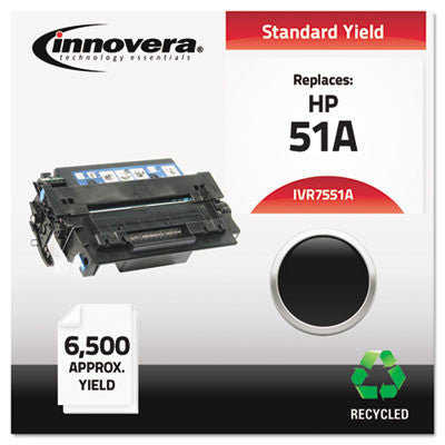 7551A Compatible, Remanufactured, Q7551A (51A) Laser Toner, 6500 Yield, Black