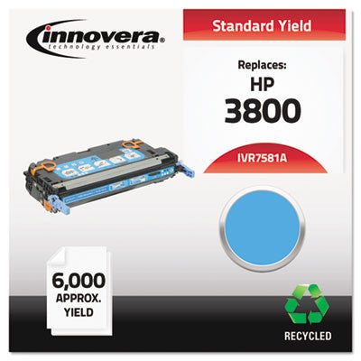 7581A Compatible, Remanufactured, Q7581A (503A) Laser Toner, 6000 Yield, Cyan