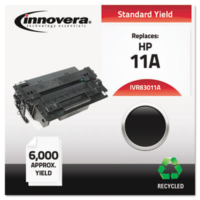 83011A Compatible, Remanufactured, Q6511A (11A) Laser Toner, 6000 Yield, Black