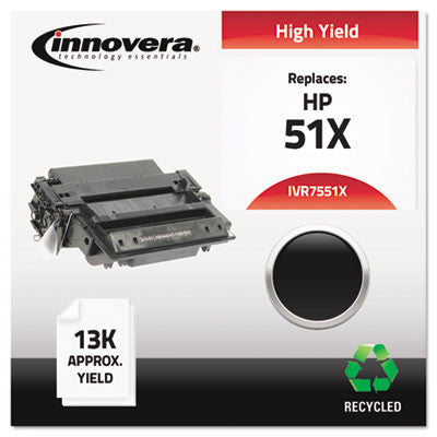 7551X Compatible, Remanufactured, Q7551X (51X) Laser Toner, 13000 Yield, Black