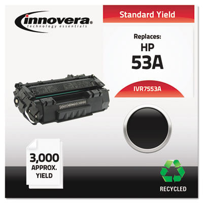 7553A Compatible, Remanufactured, Q7553A (53A) Laser Toner, 3000 Yield, Black