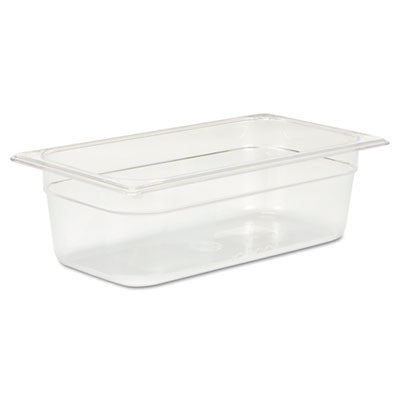 Cold Food Pans, 4qt, 6 7/8w x 12 4/5d x 4h, Clear