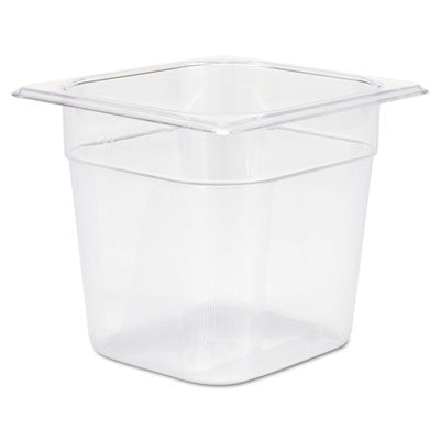 Cold Food Pans, 2 1/2qt, 6 3/8w x 6 7/8d x 6h, Clear
