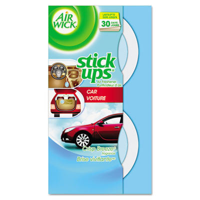 Stick Ups Car Air Freshener, 2.1oz, Crisp Breeze