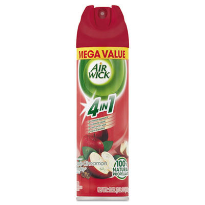 MEGA-SIZE 4 in 1 Aerosol Air Freshener, 18oz Aerosol, Apple Cinnamon Medley