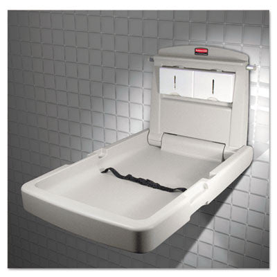 Vertical Wall-Mountable Baby Changing Station, Light Platinum