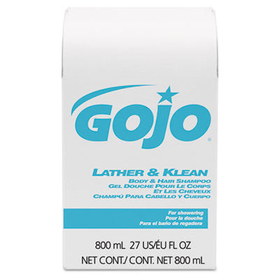 Lather & Klean Body & Hair Shampoo Refill, Pleasantly Scented, 800 ml