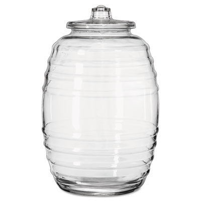 Glass Barrel with Lid, 20 Liters, Clear