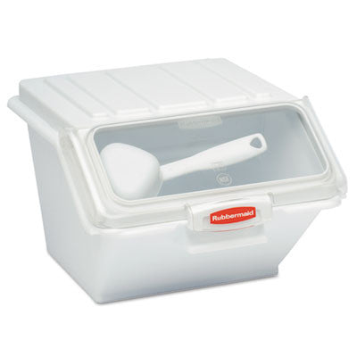 ProSave Shelf-Storage Ingredient Bin w/Scoop, 11 3/4w x 15d x 8 1/2h, White