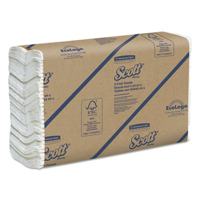 C-Fold Paper Towels, 10 1/8 x 13 3/20, White, 200/Pack