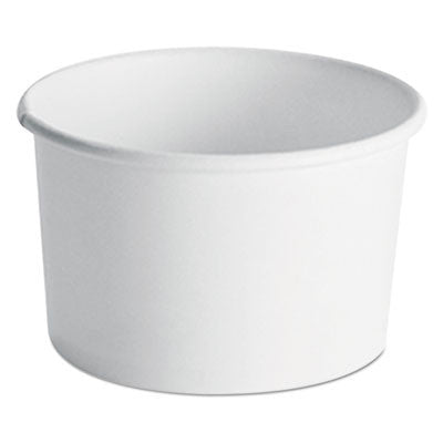Paper Food Container with Vented Lid Combo, 8 to 10 oz, Polycoated, White