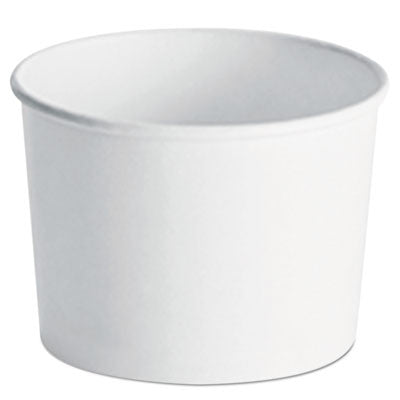Paper Food Container with Vented Lid Combo 12, oz, Polycoated, White