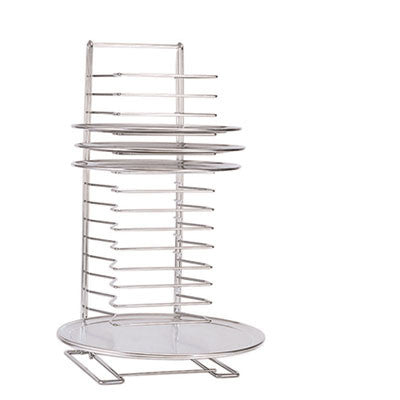 "Pizza Tray Rack, Chrome-Plated Steel, 15 Shelf, 6 lb/Shelf, 27""H"