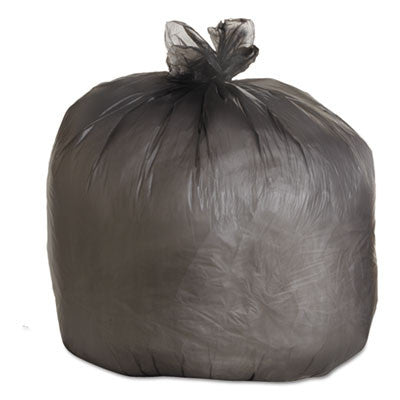 High-Density Can Liners, 40 x 46, 40-45gal, 19mic Equivalent, Black