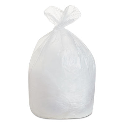 High-Density Can Liners, 38 x 58, 60gal, 19 Micron Equivalent, Natural