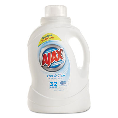 Ajax 2Xultra Liquid Detergent, Free & Clear, 50oz, Bottle