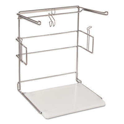 "T-Sack Rack for 1/6 Plastic Bags, Metal/Plastic, 16""W x 22""H"