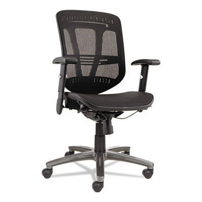 Eon Series Multifunction Wire Mechanism, Mid-Back Suspension Mesh Chair, Black