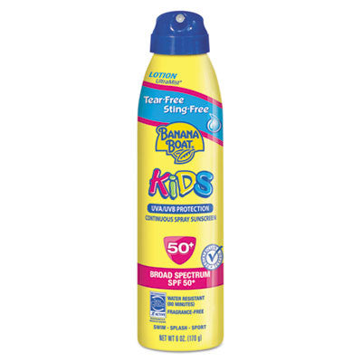 Kids Tear-Free Sting-Free Continuous Lotion Spray Sunscreen, 6 oz Can