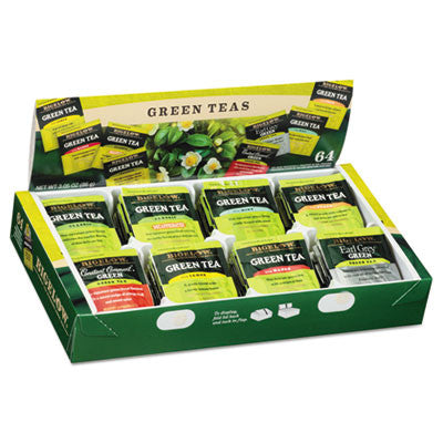 Green Tea Assortment, Tea Bags, 64/Box