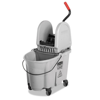 Executive WaveBrake Down-Press Mop Bucket, Gray, 35 Quarts