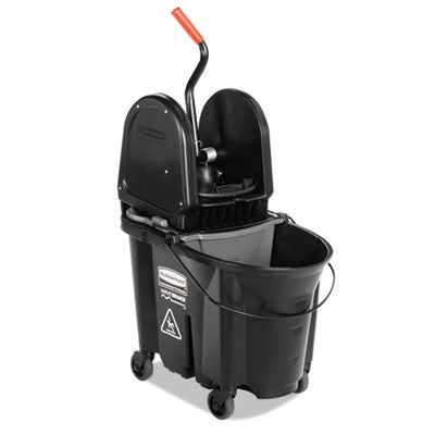 Executive WaveBrake Down-Press Mop Bucket, Black, 35 Quarts