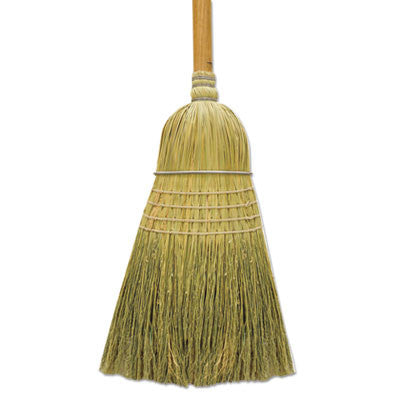 "100% Corn Warehouse Brooms, 60"", Black/Natural"