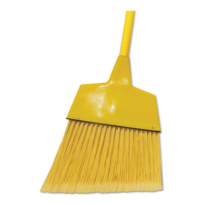 "Corn/Fiber Angled-Head Lobby Brooms, 42"", Yellow"
