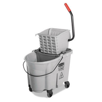 Executive WaveBrake Side-Press Mop Bucket, Gray, 35 Quarts