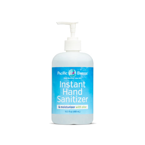 Pacific Breeze Instant Hand Sanitizer & Moisturizer with Aloe Vera