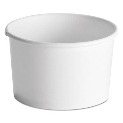 Streetside Squat Paper Food Container, Streetside Design, 8-10 oz, White