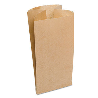 "Garbage Can Liner Bag Dubl Wax® 4 Gallon Natural, 7 3/4"" x 17"", Brown"