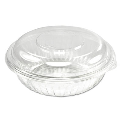 PresentaBowls Bowl/Lid Combo-Paks, 24 oz, Clear, 63/Pack