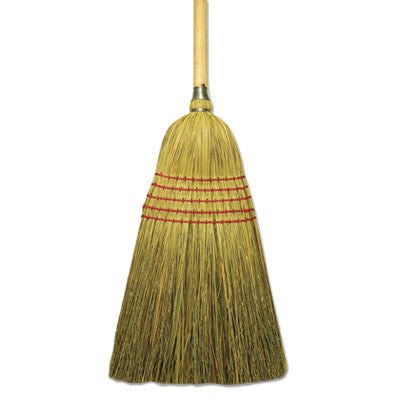 "Corn/Fiber Lobby Brooms, 53.5"", Natural"