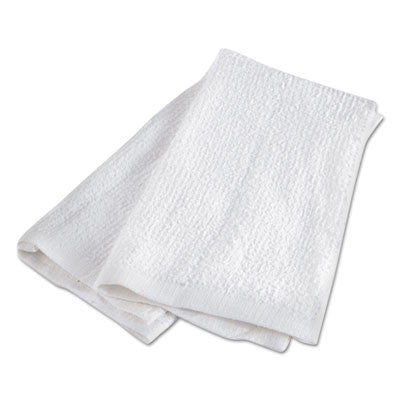 Heavy Terry Bar Towels, Terrycloth, 17 x 20, White
