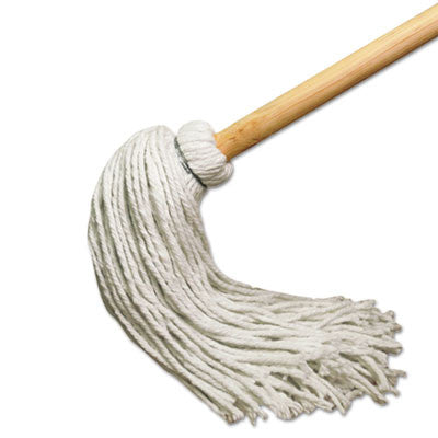 Deck Mop w/51 in. Wooden Handle, 12 oz. Rayon Fiber Head