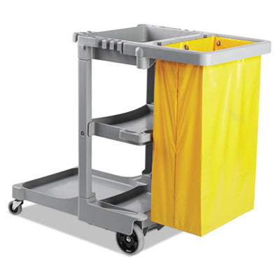 Janitor's Cart, 3 Shelves, 22w x 44d x 38h, Gray