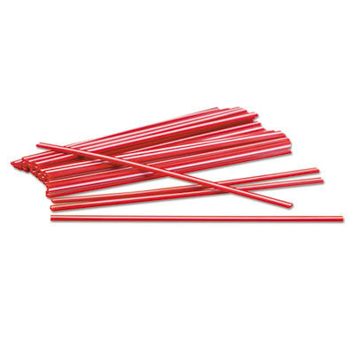 Plastic Stir Stick, 5in, Flat, Red, 1000/Box
