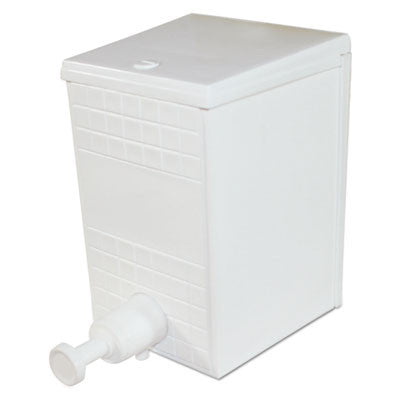 Plastic Liquid Soap Dispenser, 30 oz, Manual, White