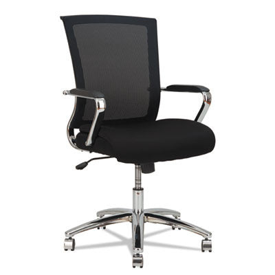 ENR Series Mid-Back Slim Profile Mesh Chair, Black/Chrome
