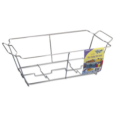 Kingsmen Full-Size Wire Chafing Racks, 24w x 12d x 8h, Chrome